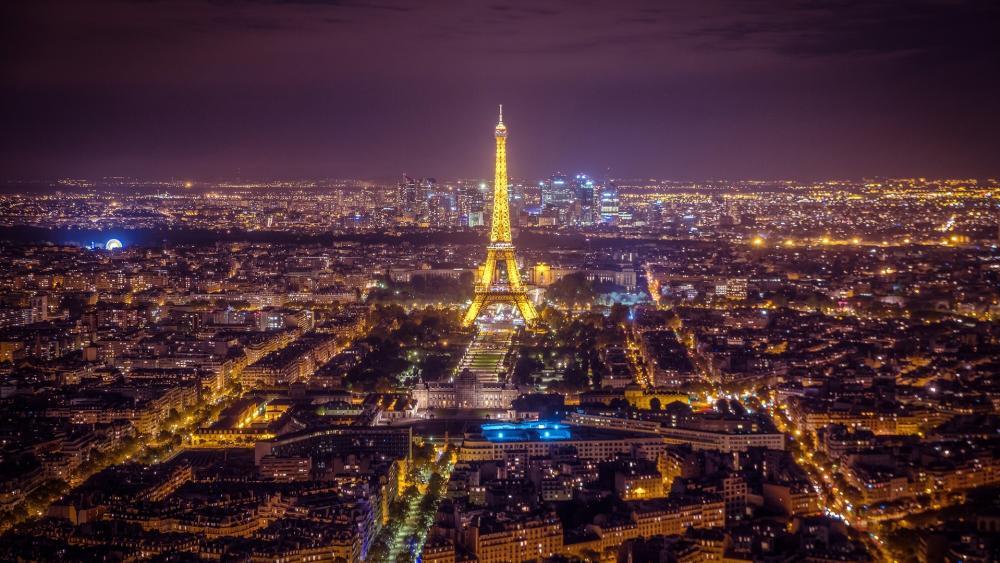 Paris at night wallpaper