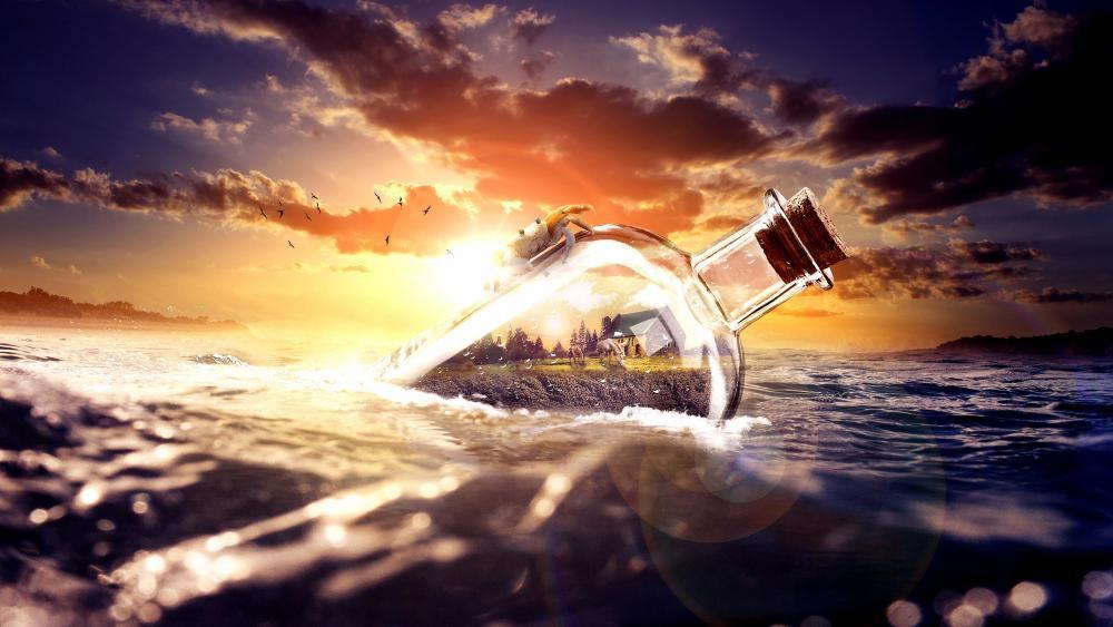 Bottle World wallpaper