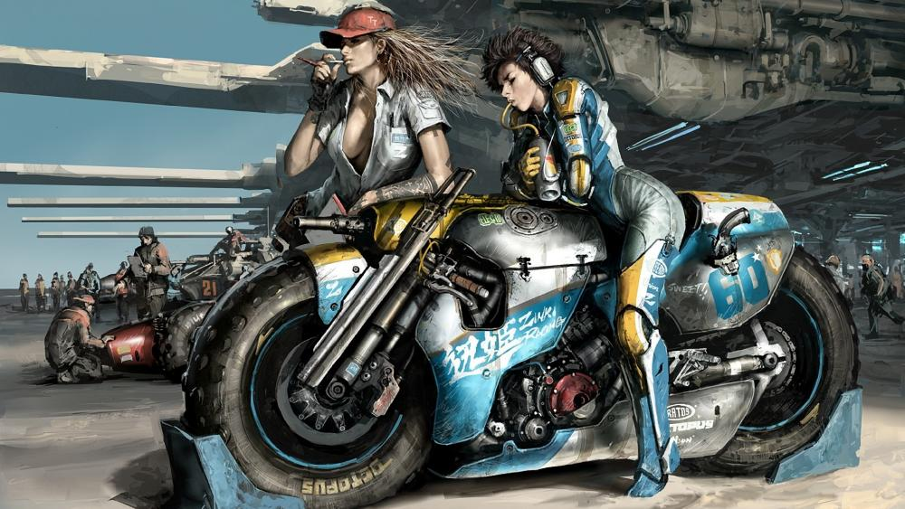 Cafe Racer motorcycles art wallpaper