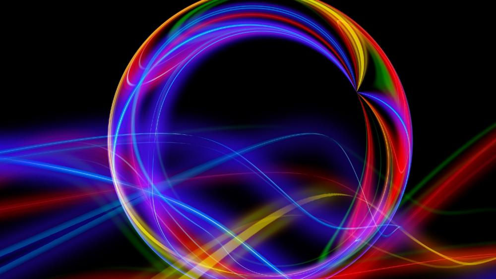 Rainbow energy ball wallpaper