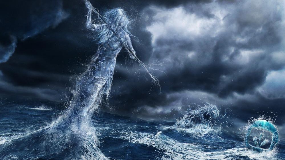 Sea goddess wallpaper
