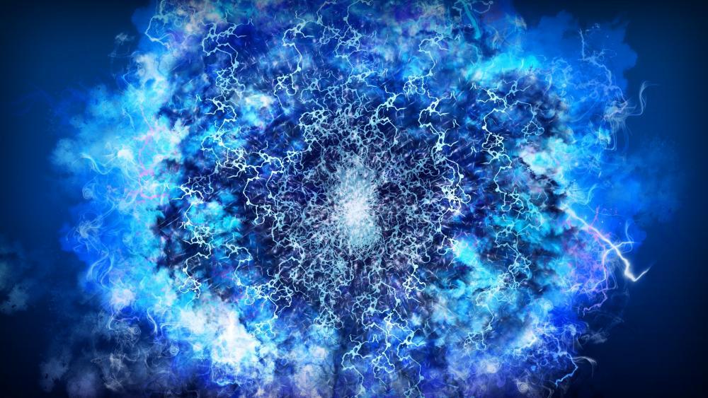 Blue energy wallpaper
