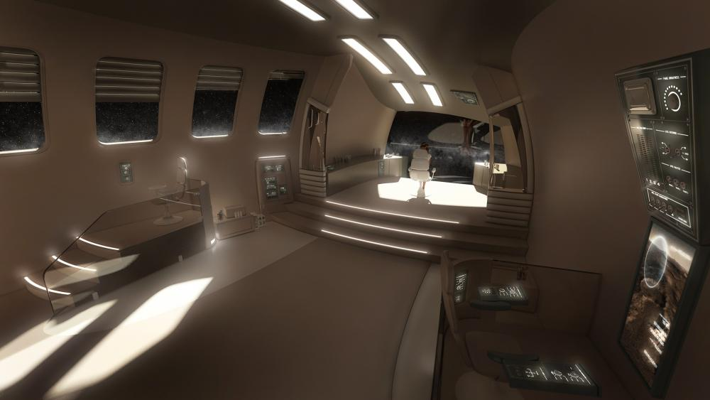 Spaceship interior wallpaper