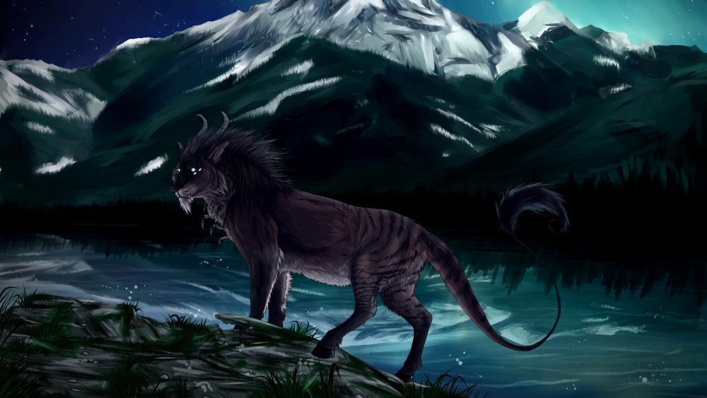 Magical lion wallpaper