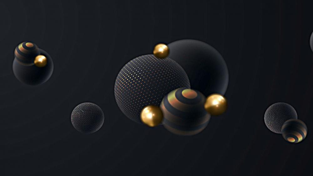 Suspended Spheres wallpaper