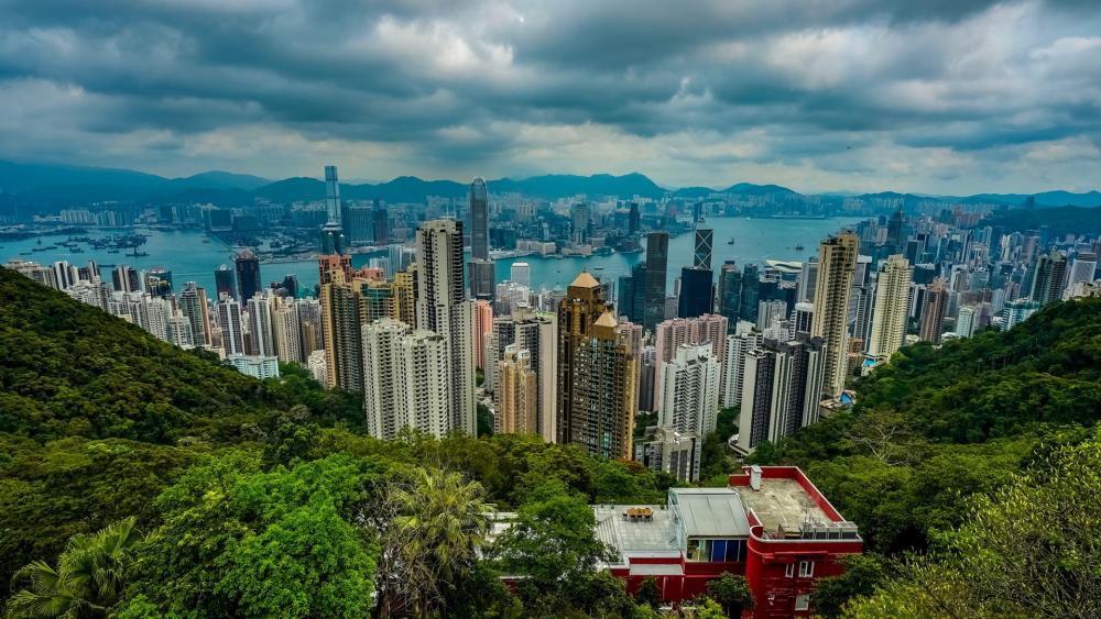 Hong Kong from Victoria Peak wallpaper