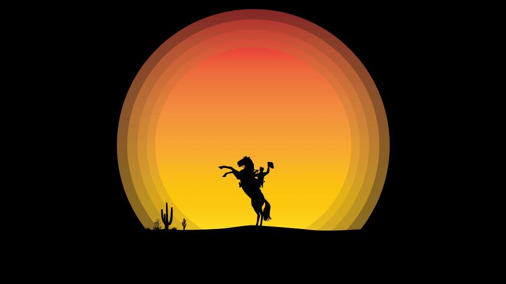 Cowboy Silhouette wallpaper