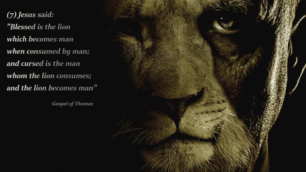 Lion or Man wallpaper