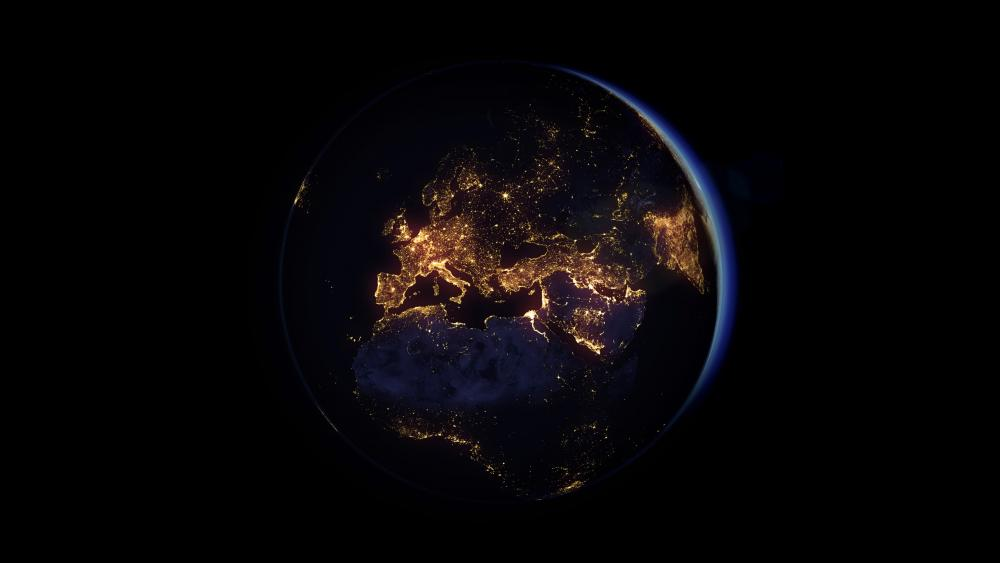 Earth at night wallpaper