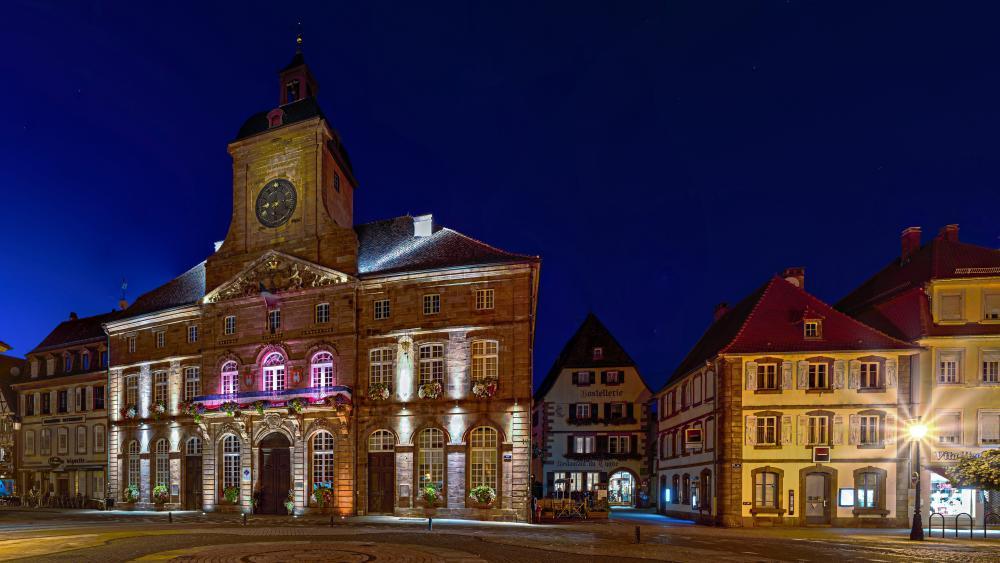 Weissenburg city hall wallpaper