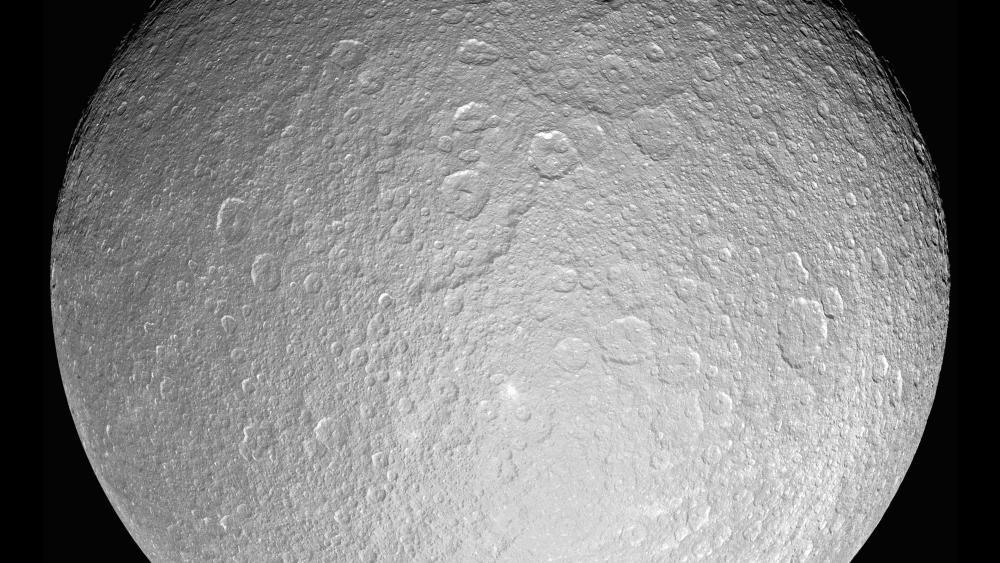 Saturn's Moon Rhea wallpaper