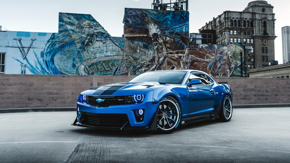 Blue Chevrolet Camaro wallpaper