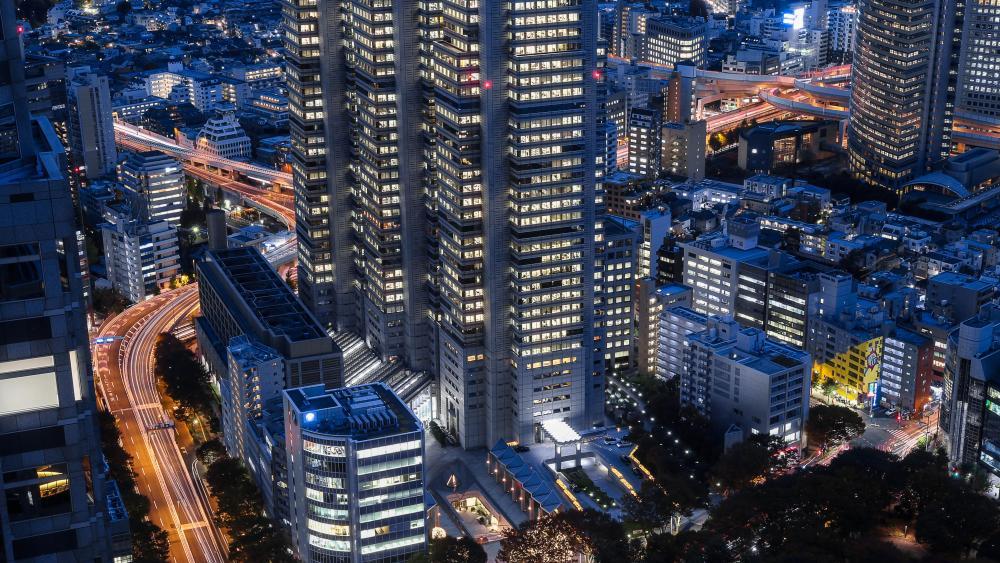 Long-Exposure Photo of Tokyo wallpaper