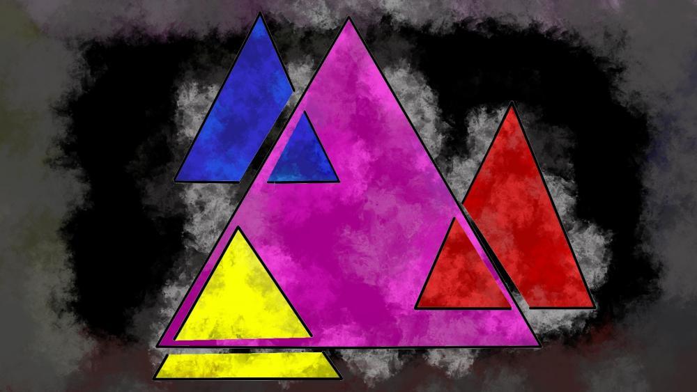 3 Colors in 4 Things wallpaper