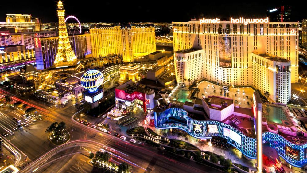 Vegas at Night wallpaper