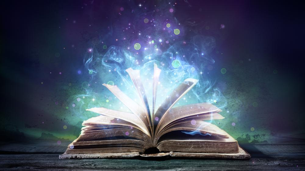 Magic book wallpaper