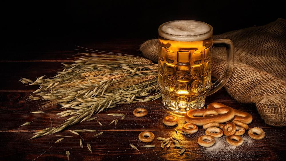 A jug of beer wallpaper