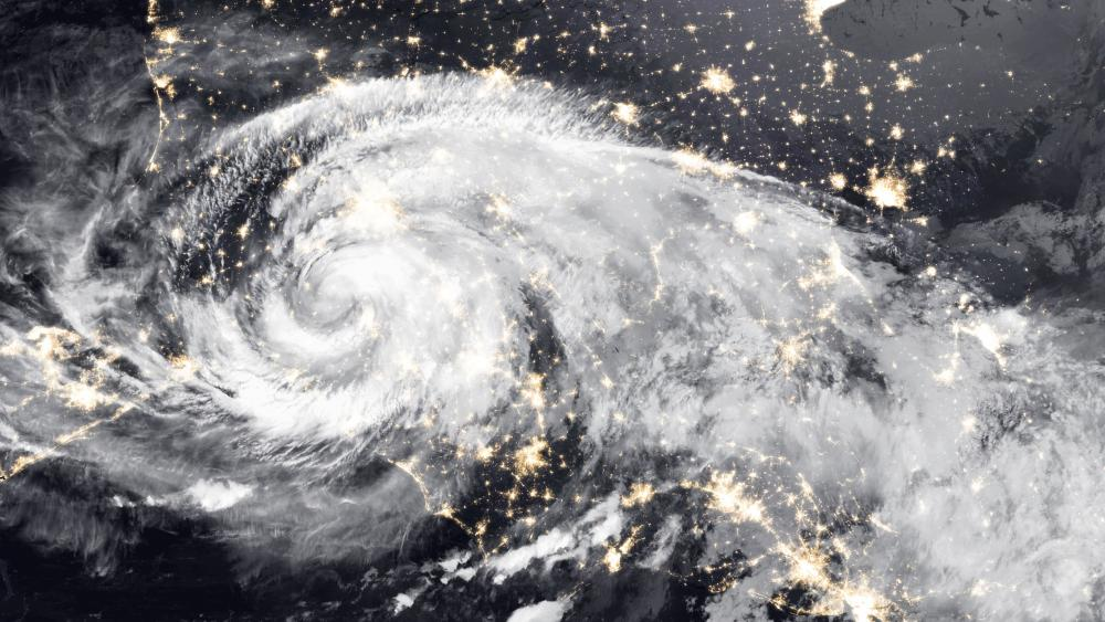 Hurricane Michael Over the United States wallpaper