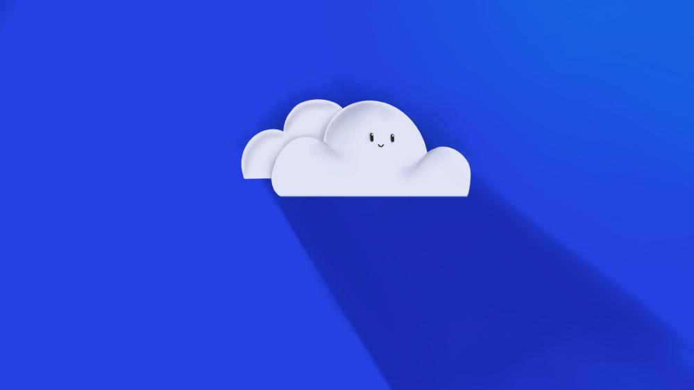 happy cloud wallpaper