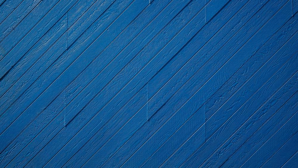 Blue wood planks wallpaper