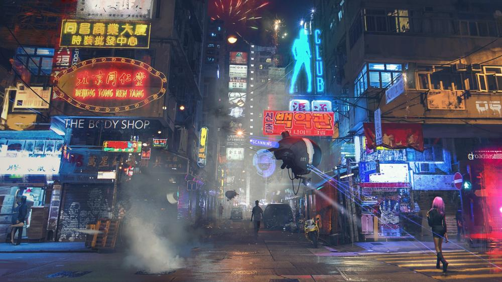 Cyberpunk Hong Kong wallpaper