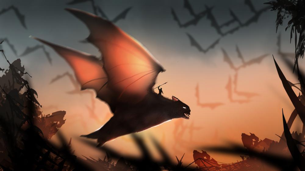 Magical bat wallpaper