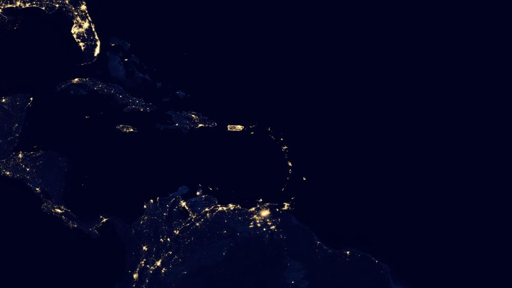 Night Lights in the Caribbean wallpaper