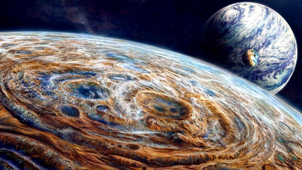 Planetary surface wallpaper