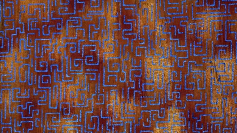 Labyrinth pattern wallpaper