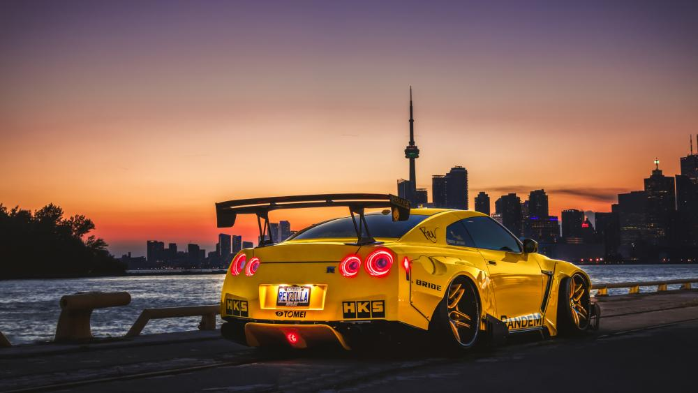 Yellow Nissan GT-R R35 wallpaper