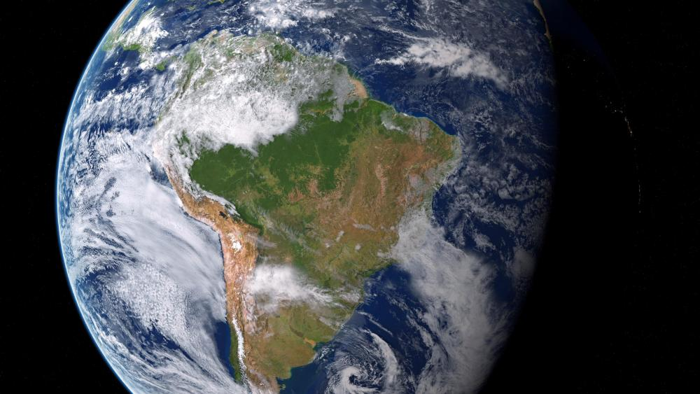 Earth by Night & Day: South America by Day wallpaper