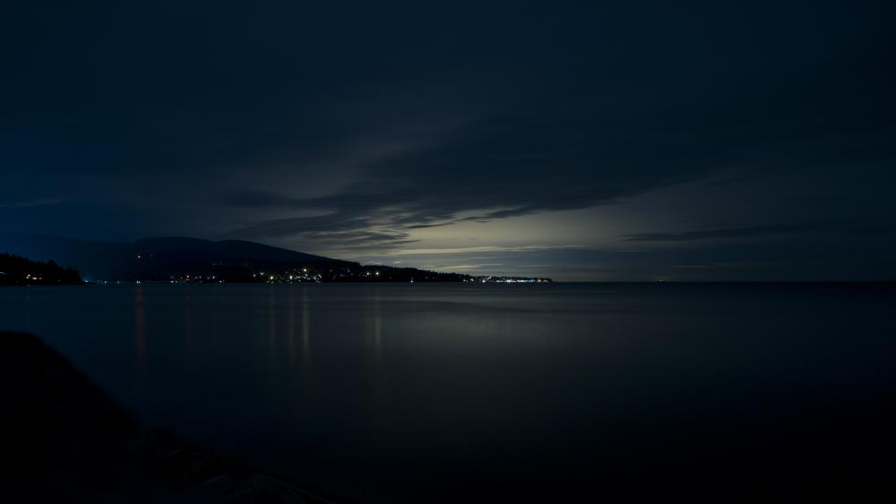 Night seascape wallpaper