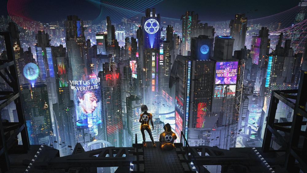 Crypto city wallpaper