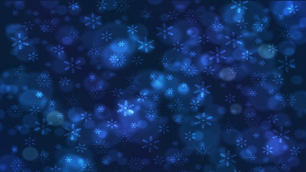 Blue snowflakes wallpaper
