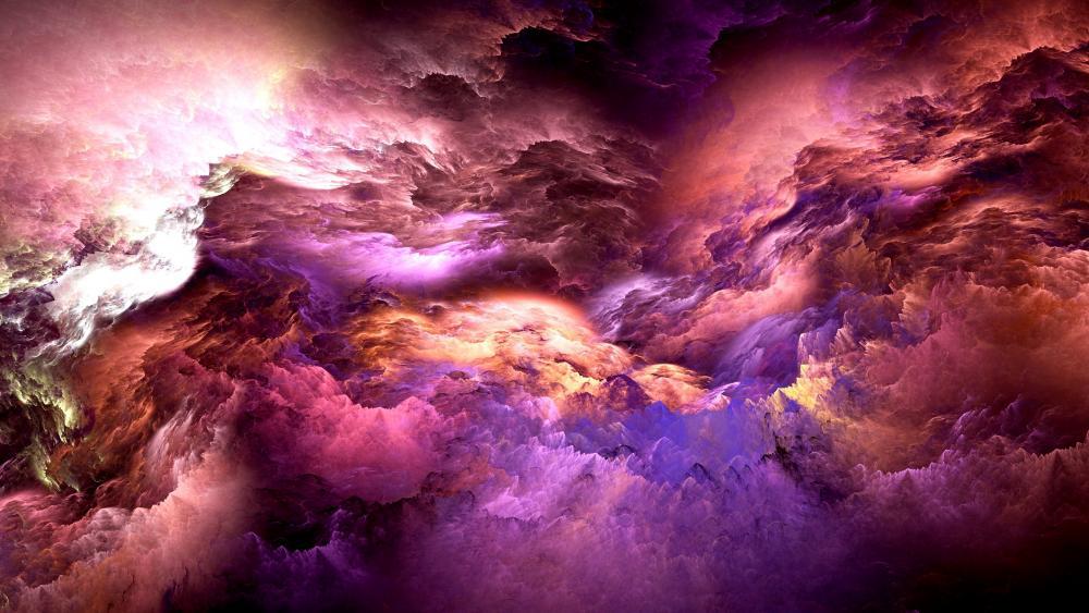 Psychedelic Nebula wallpaper