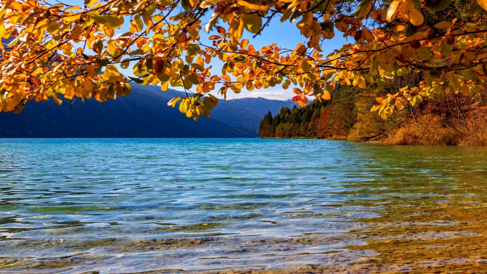 Austria, Lake Weissensee wallpaper