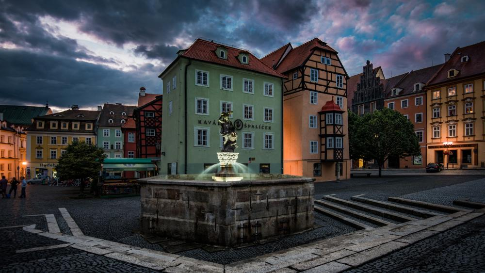 Market Square (Cheb, Czechia) wallpaper