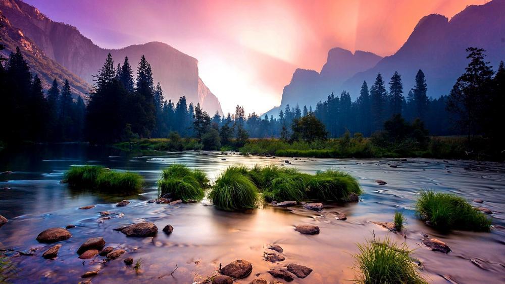 Merced River at Yosemite Valley wallpaper