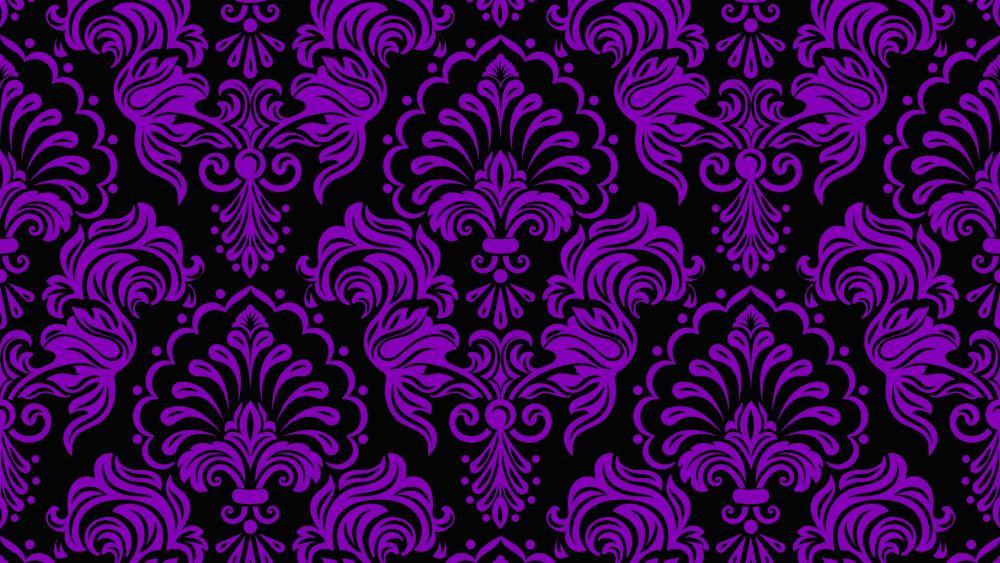 Purple classic pattern wallpaper