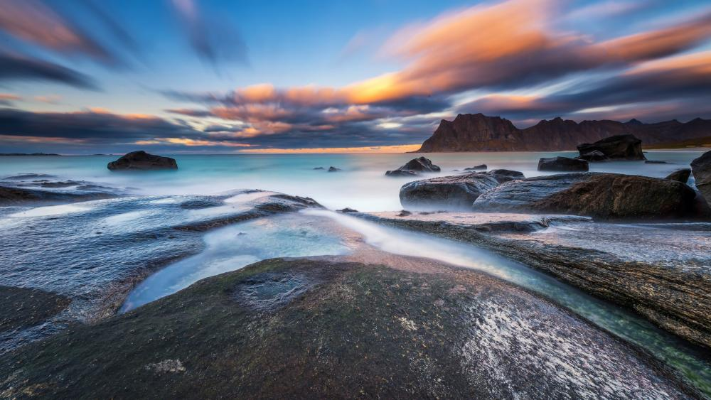 Boulders of Lofoten wallpaper