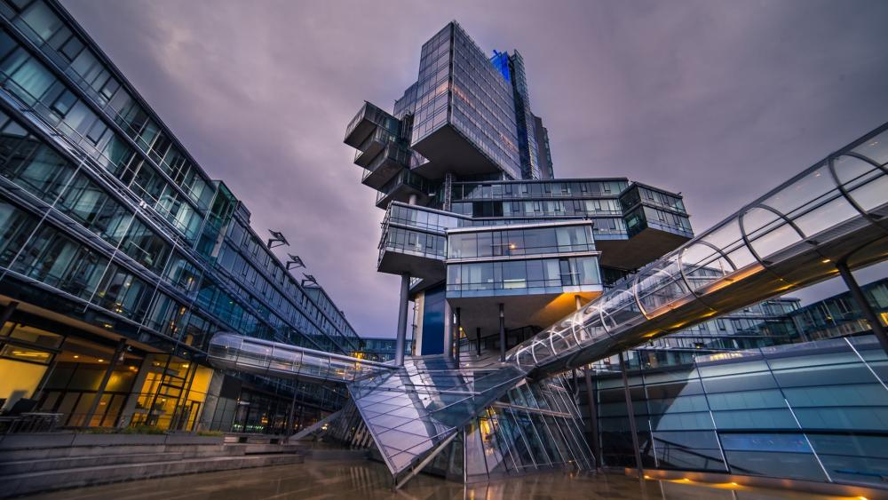 Modern architecture in Hannover wallpaper