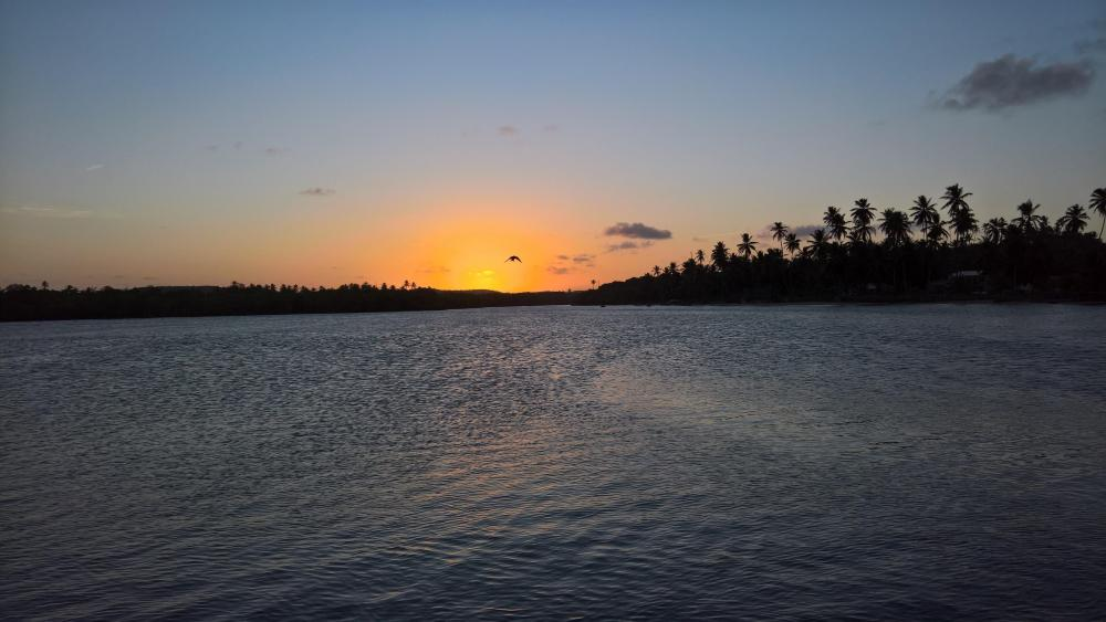 Sunset in Conde wallpaper