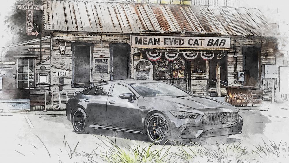 Mercedes-Benz drawing wallpaper