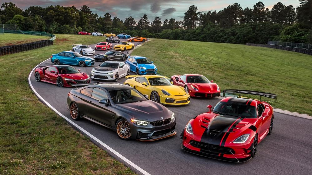 Sports car collection wallpaper