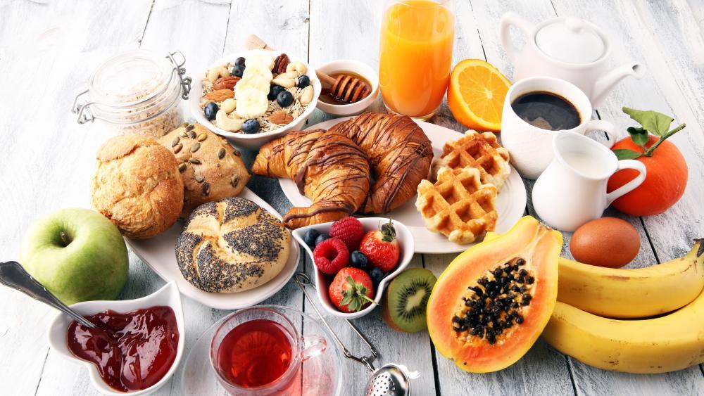 Full breakfast wallpaper