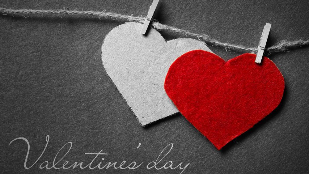 Valentine's day hearts wallpaper