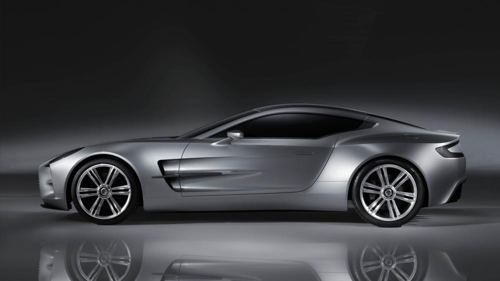 Aston Martin monochrome photo wallpaper