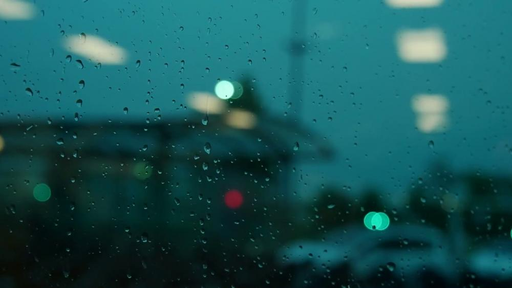 Rainy evening wallpaper