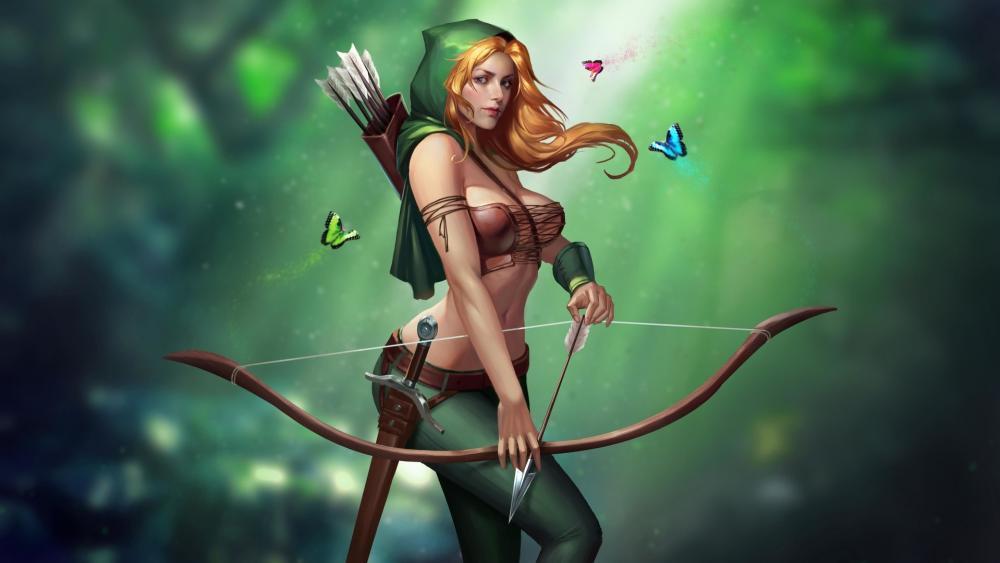 Archer woman wallpaper