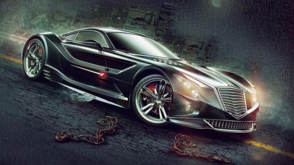 Concept car illustration wallpaper